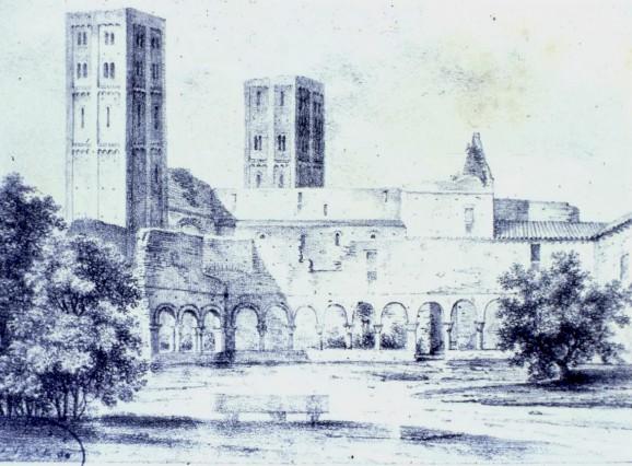 Saint Michel de Cuxa en 1824